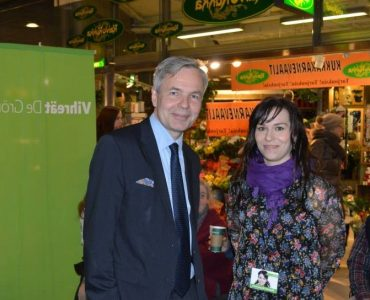 Noora Koponen ja Pekka Haavisto